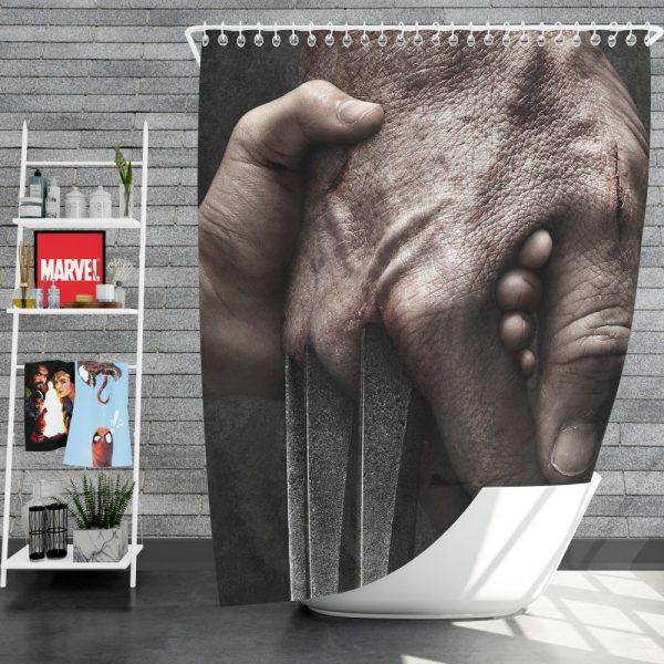 Logan Movie Hugh Jackman Laura Kinney Marvel Comics Shower Curtain