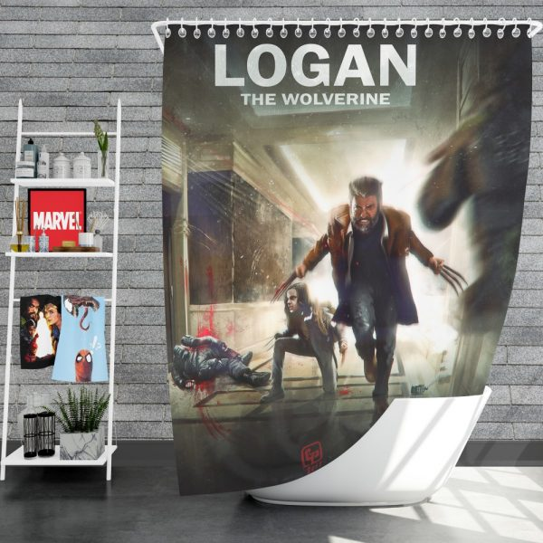 Logan Movie Wolverine X-23 Shower Curtain