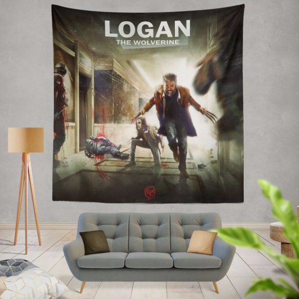 Logan Movie Wolverine X-23 Wall Hanging Tapestry