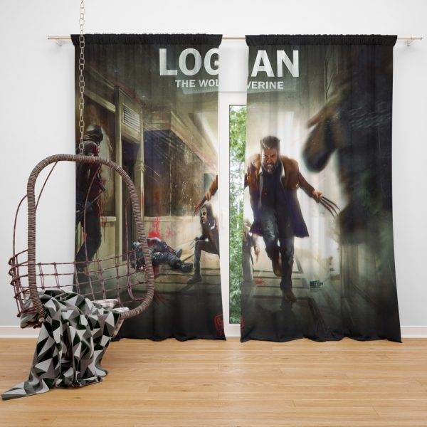 Logan Movie Wolverine X-23 Window Curtain
