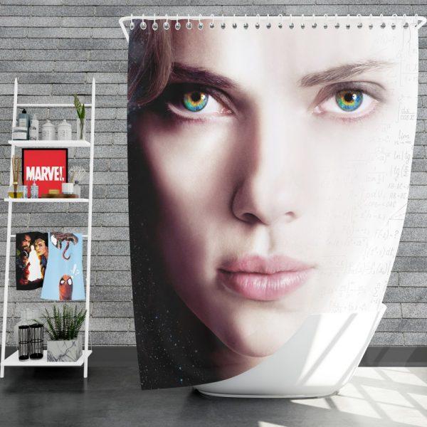 Lucy Movie Scarlett Johansson Shower Curtain