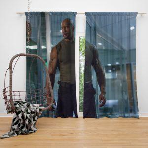 Luke Hobbs Dwayne Johnson in Furious 7 Fast & Furious Movie Window Curtain