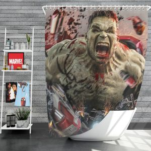 MCU Avengers Endgame Movie Hulk Shower Curtain