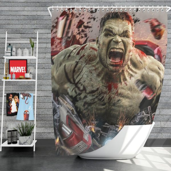 MCU Avengers Endgame Movie Hulk Shower Curtain