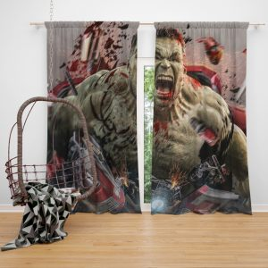 MCU Avengers Endgame Movie Hulk Window Curtain