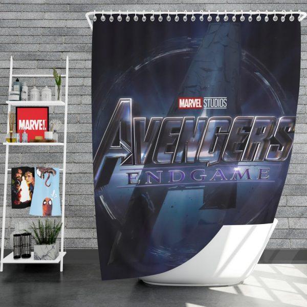MCU Avengers Endgame Movie Marvel Comics Shower Curtain