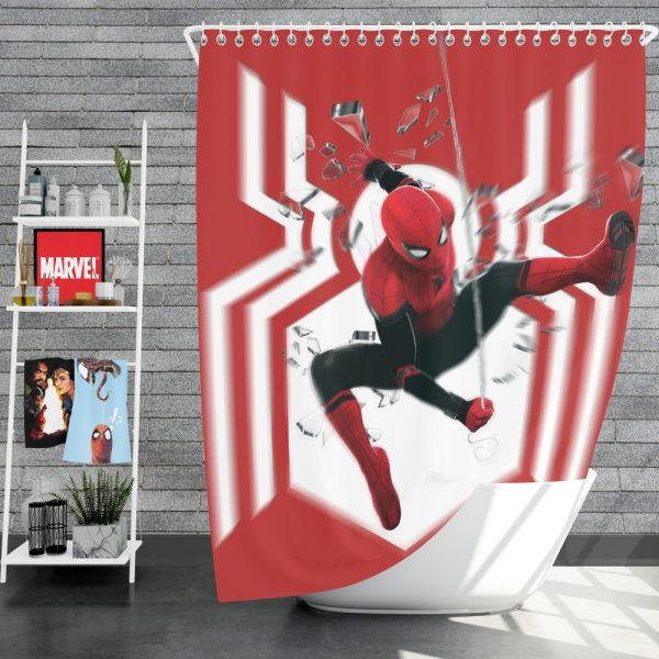 MCU Spider-Man Far From Home Shower Curtain