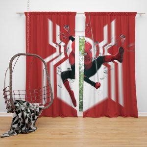 MCU Spider-Man Far From Home Window Curtain