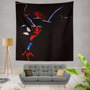 MCU Spider-Man Into The Spider-Verse Movie Miles Morales Wall Hanging Tapestry