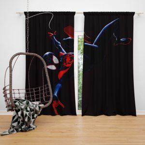 MCU Spider-Man Into The Spider-Verse Movie Miles Morales Window Curtain