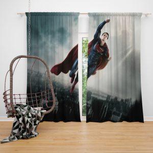 Man Of Steel Movie Superman Window Curtain