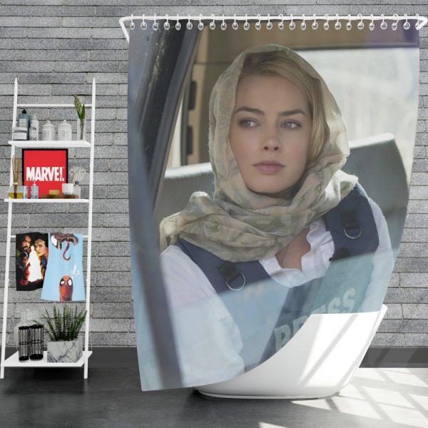 Margot Robbie in Whiskey Tango Foxtrot Movie Shower Curtain