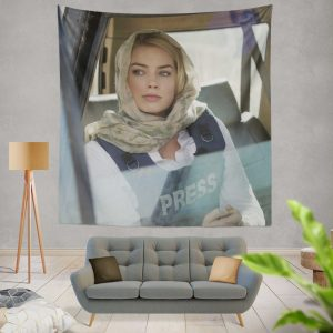 Margot Robbie in Whiskey Tango Foxtrot Movie Wall Hanging Tapestry
