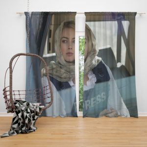 Margot Robbie in Whiskey Tango Foxtrot Movie Window Curtain