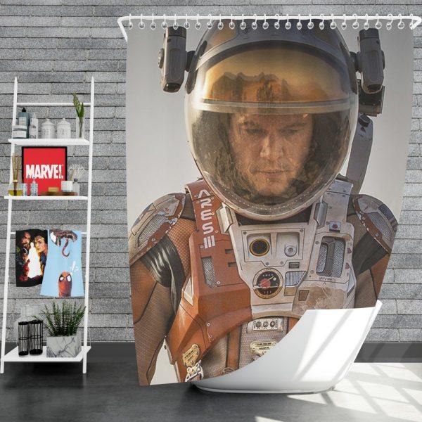 Mark Watney Matt Damon in The Martian Movie Shower Curtain