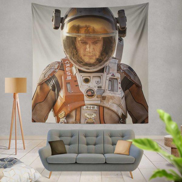 Mark Watney Matt Damon in The Martian Movie Wall Hanging Tapestry
