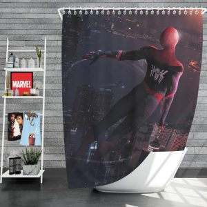 Marvel Comics Spider-Man Far From Home Peter Parker Shower Curtain