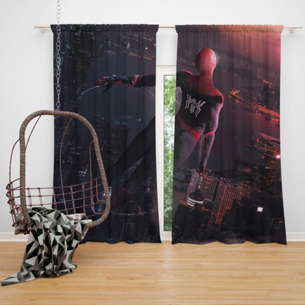 Marvel Comics Spider-Man Far From Home Peter Parker Window Curtain