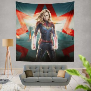 Marvel MCU Captain Marvel Movie Brie Larson Wall Hanging Tapestry