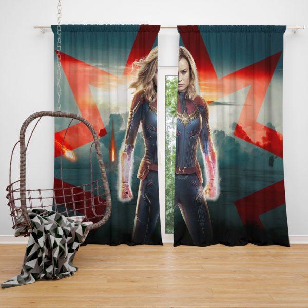Marvel MCU Captain Marvel Movie Brie Larson Window Curtain