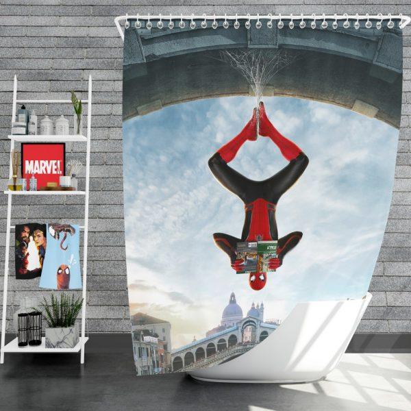 Marvel MCU Spider-Man Far From Home Movie Shower Curtain