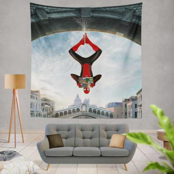 Marvel MCU Spider-Man Far From Home Movie Wall Hanging Tapestry