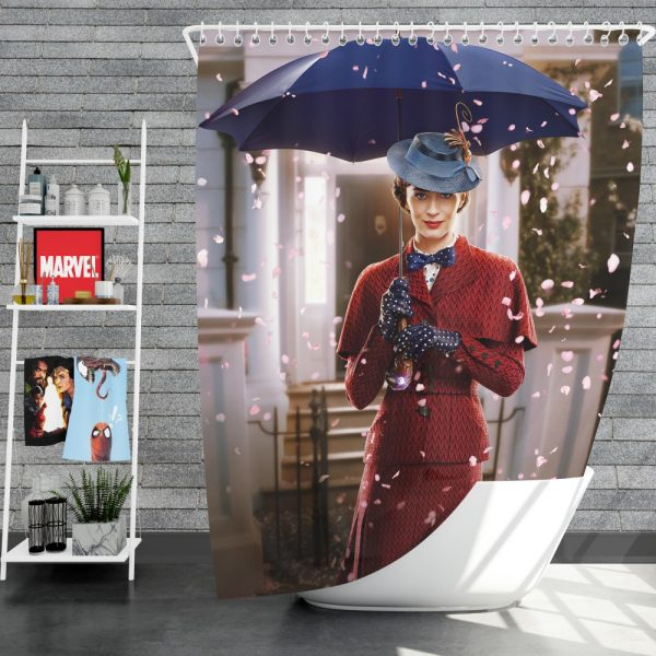 Mary Poppins Returns Movie Emily Blunt Shower Curtain