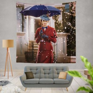Mary Poppins Returns Movie Emily Blunt Wall Hanging Tapestry