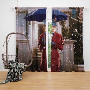 Mary Poppins Returns Movie Emily Blunt Window Curtain