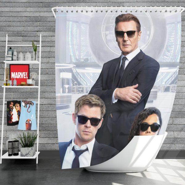 Men in Black International Movie Chris Hemsworth Liam Neeson Tessa Thompson Shower Curtain