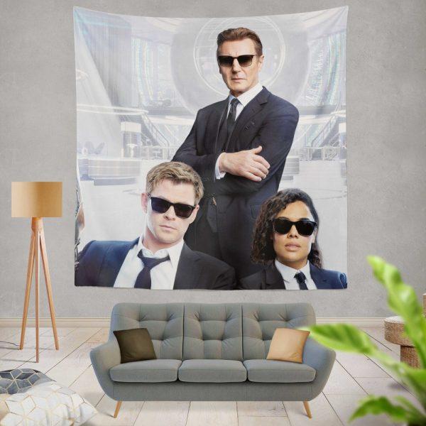 Men in Black International Movie Chris Hemsworth Liam Neeson Tessa Thompson Wall Hanging Tapestry