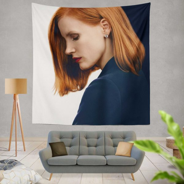Miss Sloane Movie Jessica Chastain Wall Hanging Tapestry
