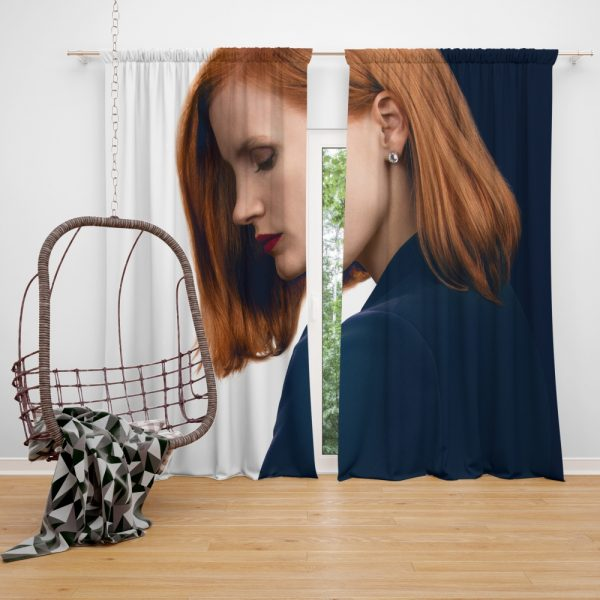 Miss Sloane Movie Jessica Chastain Window Curtain