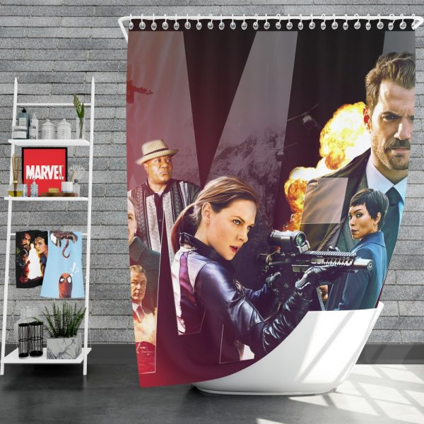 Mission Impossible - Fallout Movie Alan Hunley August Walker Benji Dunn Ethan Hunt Henry Cavill Shower Curtain