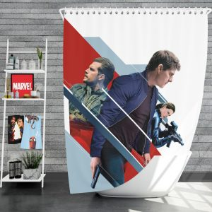 Mission Impossible Fallout Movie August Walker Ethan Hunt Henry Cavill Ilsa Faust Shower Curtain