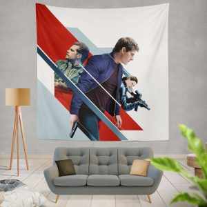 Mission Impossible Fallout Movie August Walker Ethan Hunt Henry Cavill Ilsa Faust Wall Hanging Tapestry