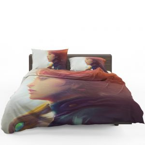 Nausicaä of the Valley of the Wind Movie Girl Red Hair Bedding Set 1