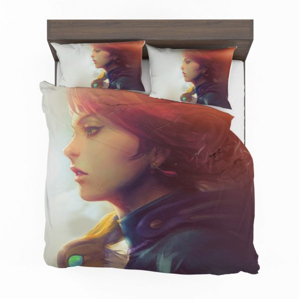 Nausicaä of the Valley of the Wind Movie Girl Red Hair Bedding Set 2