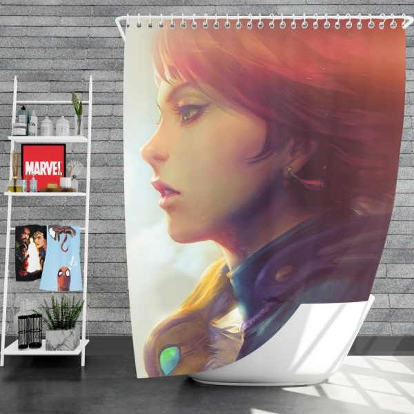 Nausicaä of the Valley of the Wind Movie Girl Red Hair Shower Curtain