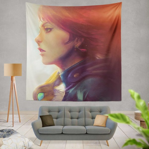 Nausicaä of the Valley of the Wind Movie Girl Red Hair Wall Hanging Tapestry