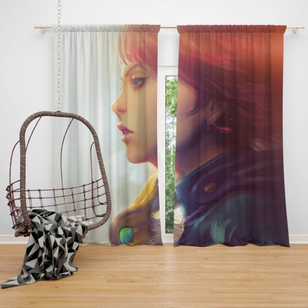 Nausicaä of the Valley of the Wind Movie Girl Red Hair Window Curtain