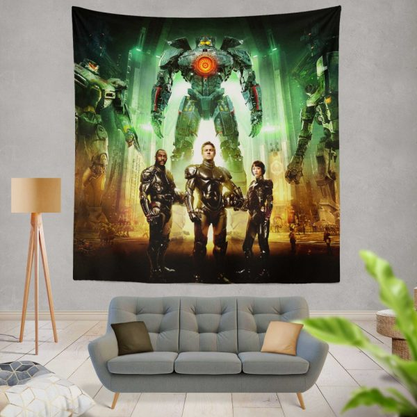 Pacific Rim Movie Stacker Pentecost Lambert Liwen Shao Wall Hanging Tapestry