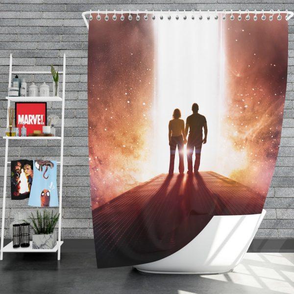 Passengers Movie Chris Pratt Jennifer Lawrence Shower Curtain