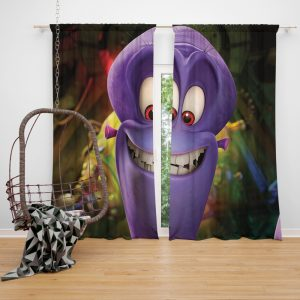 Penguins of Madagascar Movie Charming Villain Dave Window Curtain