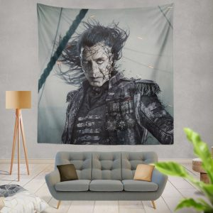 Pirates Of The Caribbean Dead Men Tell No Tales Movie Captain Salazar Javier Bardem Wall Hanging Tapestry
