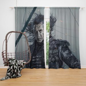 Pirates Of The Caribbean Dead Men Tell No Tales Movie Captain Salazar Javier Bardem Window Curtain