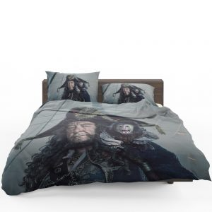 Pirates Of The Caribbean Dead Men Tell No Tales Movie Geoffrey Rush Hector Barbossa Bedding Set 1