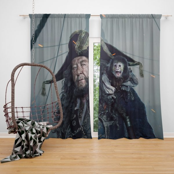 Pirates Of The Caribbean Dead Men Tell No Tales Movie Geoffrey Rush Hector Barbossa Window Curtain