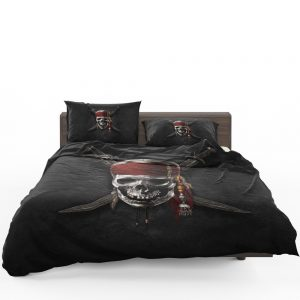Pirates Of The Caribbean Movie Dead Skull Bedding Set 1