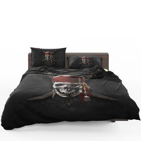 Pirates Of The Caribbean Movie Dead Skull Bedding Set 1